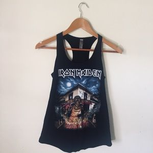 Iron Maiden tank top Autograph by Nicko Mcbrain
